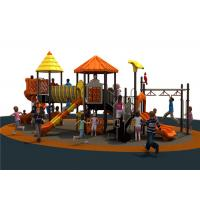 China Orange Outdoor Activity Play Equipment With Water Slide Galvanized on sale