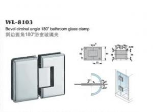 China WL-8103 High Quality Solid Brass Glass Shower Door Hinge / Glass Bracket / Glass Clamp 180 degree bevel circinate on sale