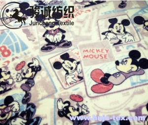 China Mickey Mouse Printed Flannel Baby Blanket Fabric Coral Fleece for apparel/bed sheet on sale