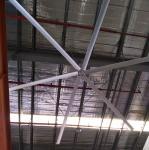 Quiet HVLS Big Industrial Ceiling Fans , 22ft Large Diameter Ceiling Fans