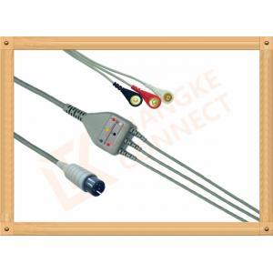 Âme massive d'AAMI ECG du câble 6 de la borne 5 d'avances d'isolation patiente générique de PVC