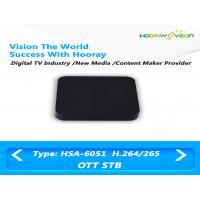 100Mb Ethernet IPTV OTT Set Top Box Quad Core Amlogic H.265 / H.264 decoding