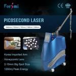 Korea lab 600ps High Peak Power picosecond laser tattoo removal machine with 755nm 585nm 650nm USA Lambda Heads
