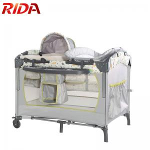 China Deluxe Nursery foldable travel cot crib multifunction playpen baby with lift on sale