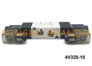 DC12V Double Electronic Control Pneumatic Valve Solenoid Valve 5 Way 3 Position
