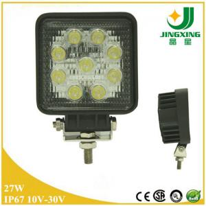 China 4 led work spotlight 10-30v auto led work light 27w high power led work light on sale