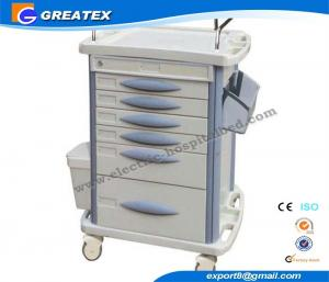 China Record Luxury Anesthesia Hospital medical instrument trolley With Utility Container on sale