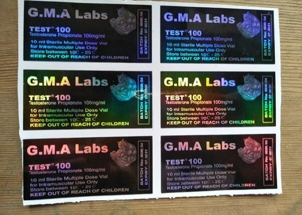 Black GMA Labs Medicine Bottle Label DECA/ TEST E 300 Laser