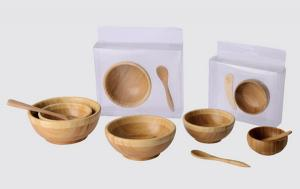 China bamboo bowl bamboo spatula wooden bamboo lacquer bowls wholesale natural cosmetically bamboo facial spatula on sale
