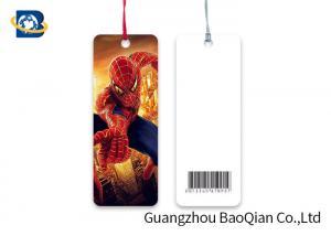 China Custom Shape Flipped Lenticular Bookmark , Super Hero Custom Plastic Bookmarks on sale