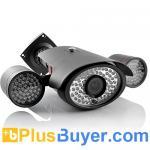 StrongFortress - cámara IP de la visión nocturna de 161 LED con la corriente dual