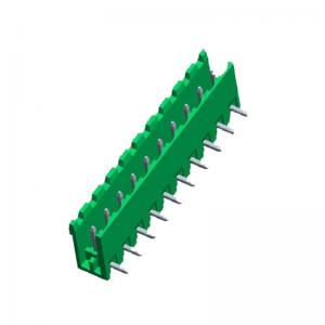 China PCB Board Terminal Block Connector With 5.08 90 degree plate type on sale