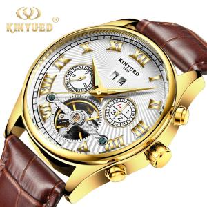 China Business Mechanical Skeleton Watch Power Reserve Automatic Skeleton Watches on sale