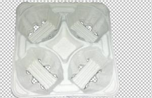 China Green Packing Waterproof Molded Pulp Products Different Designs For Coffee Tray on sale