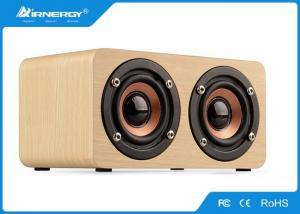 China Super Mega Bass Vintage Wooden Wifi Speaker / Bluetooth Wooden Stereo Speakers on sale