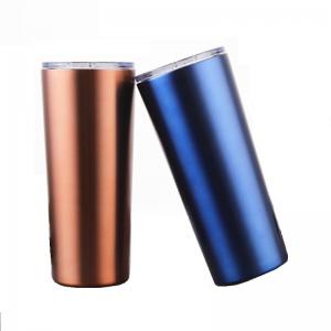 China 17oz Red Blue Stainless Steel Coffee Tumbler Ice / Hot Drink Mugs With Straws on sale