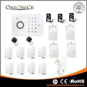 China SMS APP Video Phone Door contact Alarm Systems With RFID Touch Keypad on sale