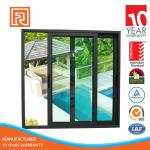 Renshi Australia Standard Double Pane Aluminum Frame Sliding Glass Window