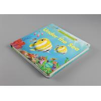 Oil Varnishing Hardcover Childrens Board Books Square Spine With Gloss Lamination