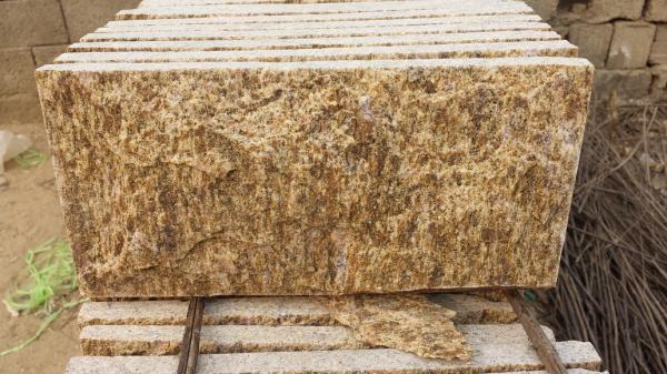 Tiger Skin Yellow Granite Mushroom Stones Granite Stone Wall Tiles