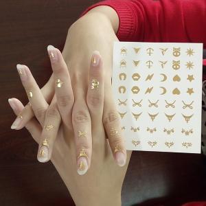 Metallic Nail Tattoo Gold Sticker