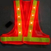 High-Visibility Reflective Flashing LED Safety Vest
