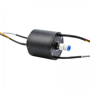 China Multi-Circuit Slip Ring Transmitting Electricity 100M Ethernet Signal and Gas for Industrial Equipment supplier