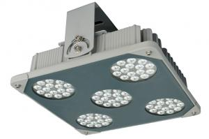 China 9900lm 90W LED Canopy Lights , Bridgelux Gas Station Lighting IP66 Impact Protection IK10 on sale