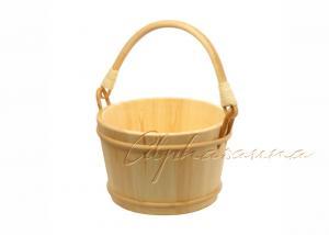 China Custom Rattan Handle wooden Sauna Bucket 8L / 2.1 Gallon , dry sauna accessories on sale