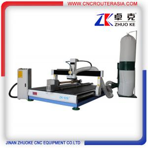 China 4 axis desktop CNC Router engraver machine with dust collector ZK-1218-2.2KW on sale