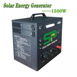 China 1500W Solar Powered Generator Home UPS System 220V AC Inverter on sale