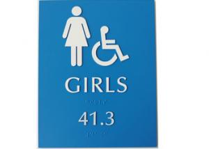 China Tactile Braille ADA Restroom Signs Customized Size Vandal Proof For Mens / Girls on sale