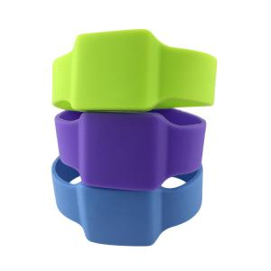 China Outdoor Protection Rfid Silicone Bracelets For Access Control And Security on sale