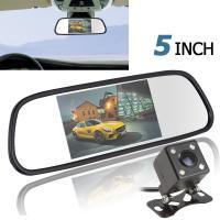 """5"""" Display Car Backup Camera Mirror PAL / NTSC With 4 LED Reversing Camera"""