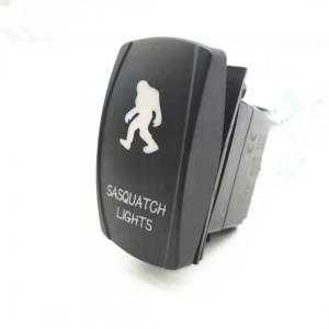 China Hot Sale 3-8P Car Marine Car Switch Laser 12-24V DC 20A ON OFF Rock Switch With LED Light on sale