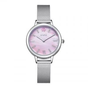 China Alloy MOP Dial Steel Mesh Band Watch Women With Japan Quartz Movement on sale