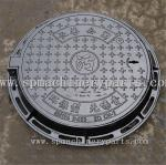 Custom best selling  EN124 D004 cast iron manhole cover with frame from China