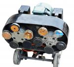 Multifunctional Chassis Concrete Floor Grinder With Magnetic Heads / Discs
