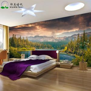 Quality Customizable 3D Interior Home Decoration Custom Size Mural Wallpaper For Sale