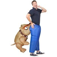 Man Eating Bull Dog Adult Inflatable Costumes Artificial Realistic Animatronic