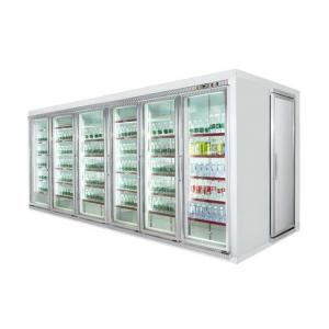 China Refrigerated glass door display chiller walk in refrigerator cold room on sale