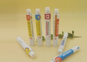 Quality ISO Medicine / Cosmetic Collapsible Aluminum Tube , Soft Ointment Packing Tubes for sale