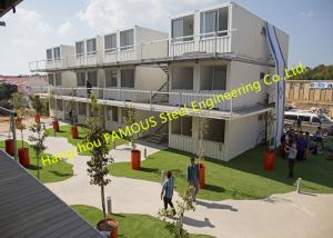 China Affordable Shipping Container Dormitory Homes Modifications Custom living Container House For Office Complex on sale