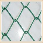 9 Gauge Chain Link Fence Fabric , Carbon Steel Wire Lattice Fence Panels Multi Colors