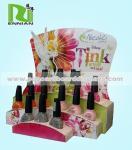 Cosmetic Shop Floor Stand POP Cardboard Displays , Nail Polish Display Rack