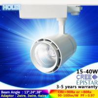 13°/24°/38° dimmable 15W 20W 25W 30W 35W 40W cree led track light 5 years warranty