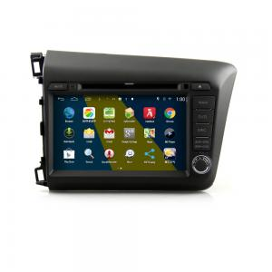 China 8 android car DVD navigation android 4.4.4 HD 1024*600 for HONDA NEW CIVIC with wifi 3g 4g mirror link 4 core CPU on sale