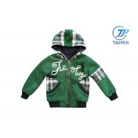 China Fall Outdoor Kids and Toddlers Fleece Hooded Jackets in Green With Pocket on sale