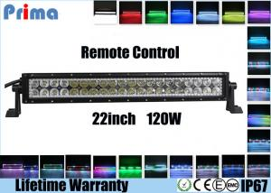 China 120W 22 Inch LED Fog Light Bar , Spot / Flood / Combo RGB Halo LED Light Bar  on sale