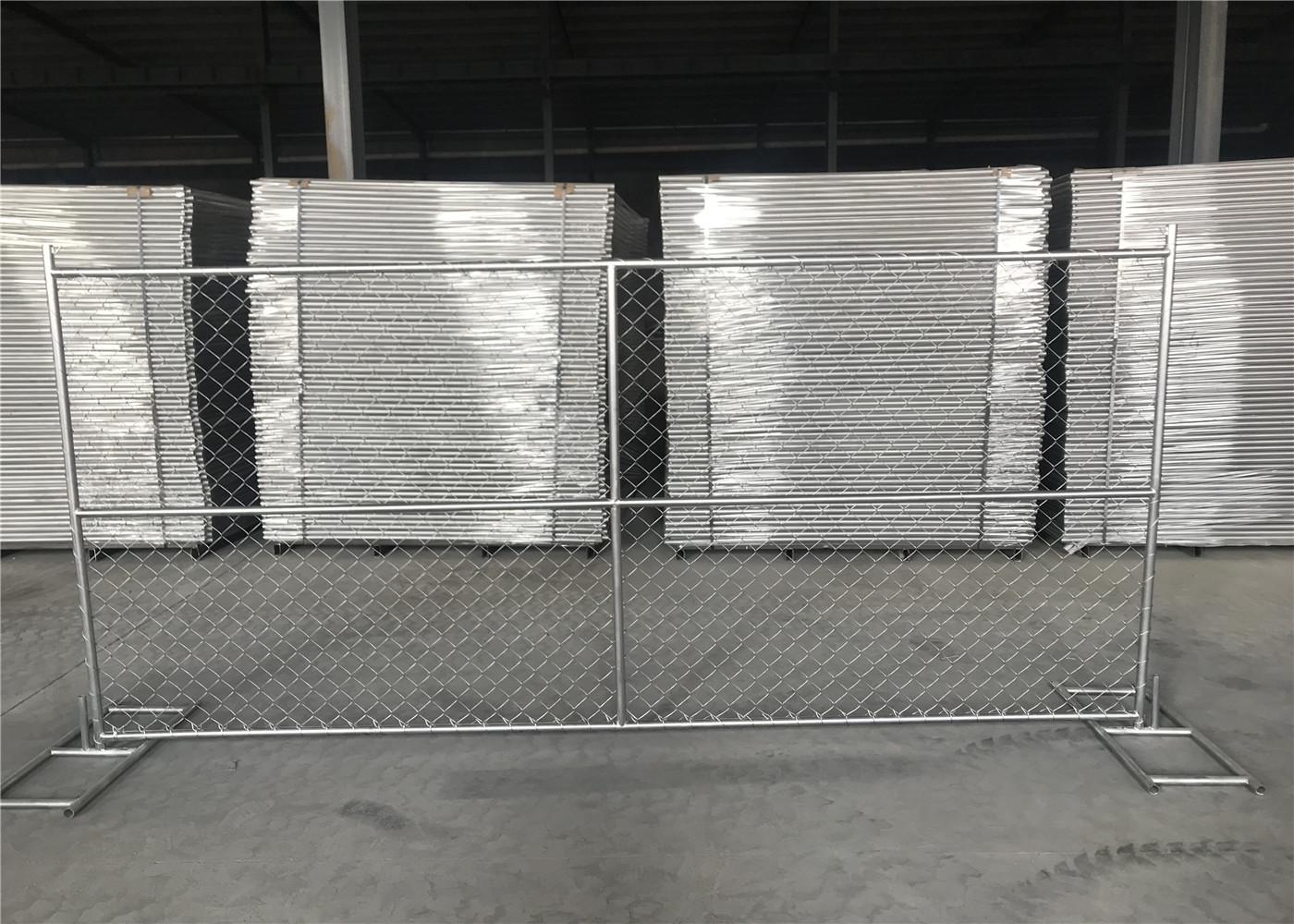 """8\' x 10\' """"Great Wall"""" temporary chain link fence panels Tube 1.625 ..."""